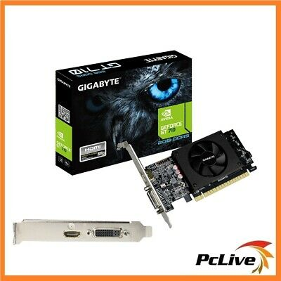 Gigabyte Nvidia Geforce 2GB GT710 Graphic Card HDMI Low Profile HD Video Gaming