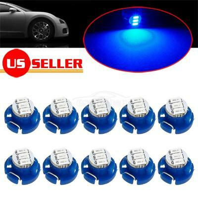 10x Blue T4/T4.2 Neo Wedge LED Bulb Dash HVAC Heater Climate Controls Lights