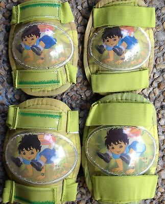 Kids Boys Roller Skate Skating Scooter KNEE ELBOW Protective Gear Pad - Go Diego