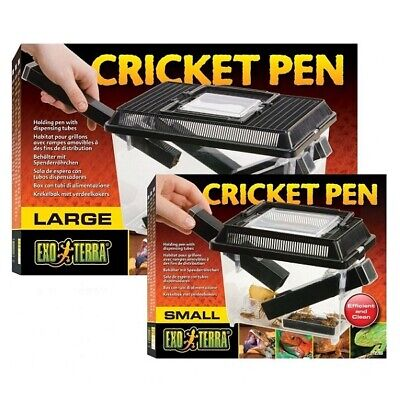 Exo Terra Reptile Cricket Livefood Keeper Pen Small Large New Live Food Box Tank