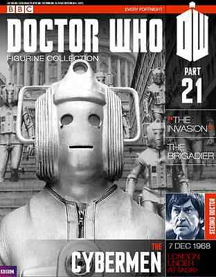 Doctor Who Figurine Collection Issue 21 The Cybermen Factory Sealed New part & m