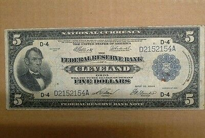 1918 $5.00  ■FRBN■Fed Res.Bank Note- Fr#787■ CLEVELAND■REALLY NICE■《#D2152154A》