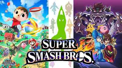 Super Smash Bros Fast Shipping High Quality Wall  Poster 34 in x 22 in