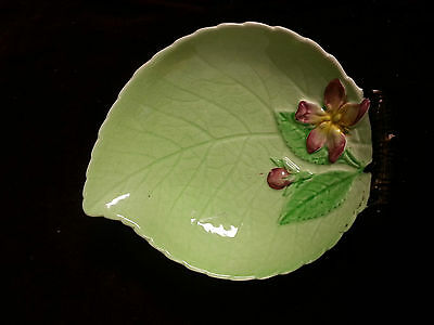 Vtg Carlton Ware Small Candy Dish Green Leaf Apple Blossom England Collectable