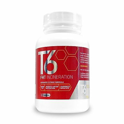 T6 powerful Best Fat Burner Diet Slimming Pills Weight Loss 60 tablets Free P&P