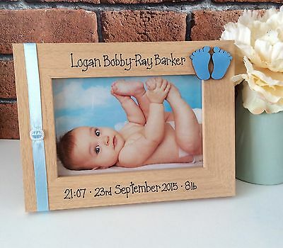 Handcrafted Personalised Photo Picture Frame New Baby Newborn Child Gift Present