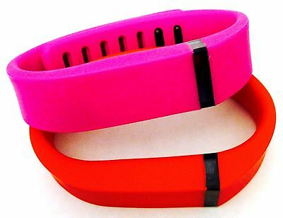 Small S 1 Purple / Pink 1 Red Bands For Fitbit Flex Bracelet Band /No Tracker