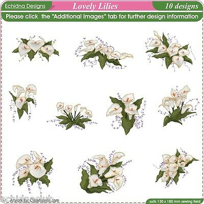 Lovely Lillies Embroidery Designs...10 Designs