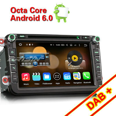 """8"""" Android 6.0 Autorradio for VW Golf Tiguan Jetta Seat GPS DAB RDS DVR 6405VGS"""