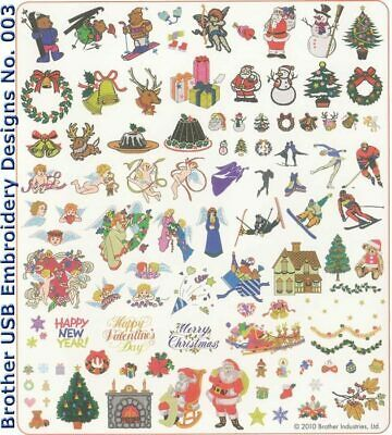 Brother Usb Embroidery Designs - No. 003 Winter