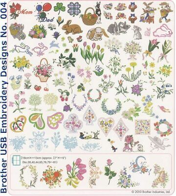 Brother Usb Embroidery Designs - No. 004 Spring