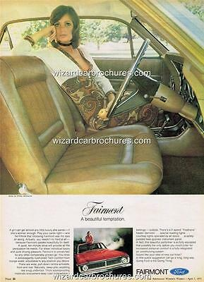 1971 Ford Xy Fairmont A3 Poster Ad Sales Brochure Advertisement Advert