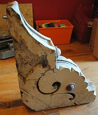 Vintage outdoor corbel, weathered with chipped paint indoor or outdoor decor