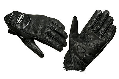 New Motorcycle Bike Scooter Cowhide Leather Sports Protective Gloves Black MBG45