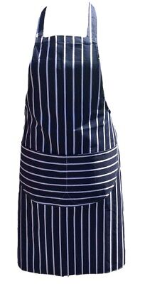 BLUE AND WHITE APRON Butchers Catering Cooking PROFESSIONAL CHEF APRONS