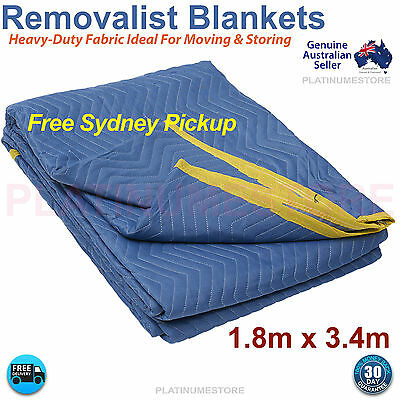 FREE POST Furniture Protection Moving Blankets Removalist Pads Quilted Blanket