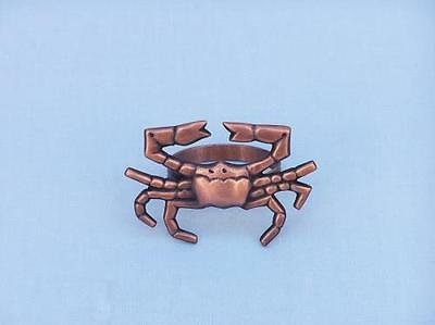 """NR-12-C Handcrafted Model Ships Antique Copper Crab Napkin Ring 3"""""""