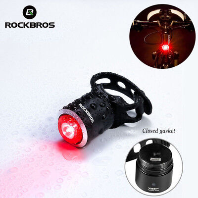 ROCKBROS Bike Bicyle Tail Light Warning Lamp USB Rechargeable IPX5 Waterproof UK