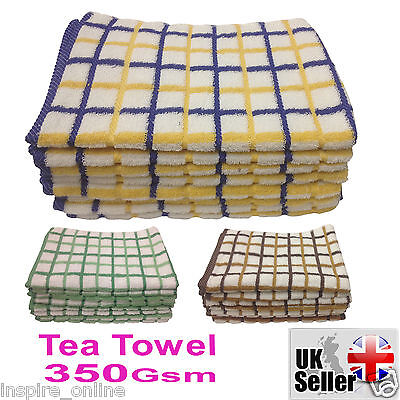 4 New 100% Cotton Tea Towel Fast Quick Drying Super Absorbent Dusting Dish Cloth