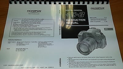 Olympus E-3 Digital Camera Printed Instruction Manual User Guide 163 Pages