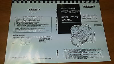 Olympus E-450 Digital Camera Printed Instruction Manual User Guide 147 Pages