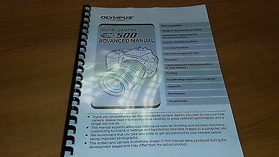Olympus E-500 Digital Camera Printed Instruction Manual User Guide 216 Pages