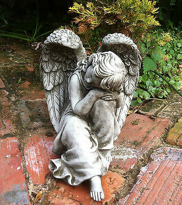 (New) Garden Stone Ornaments ~ Small Angel ~ Concrete Ornaments ~ Bespoke Detail