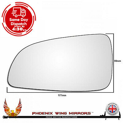 Vauxhall Astra 'H' 2004-2010 Wing Door Mirror Glass Left Hand Passenger Side