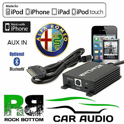 Alfa GT Romeo 2004 - 2011 Car Radio AUX IN iPod iPhone Bluetooth Interface Cable