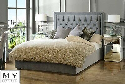 5ft King Size Luxury Upholstered bed buttoned headboard - ZENO from My-Furniture