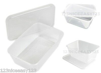 Disposable FOOD CONTAINERS (750ml) Plastic Takeaway Microwave Storage Tubs Boxes