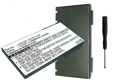 5000mAh Extended CTR-003 C/CTR-A-AB Battery w/ Back Cover for Nintendo 3DS N3DS