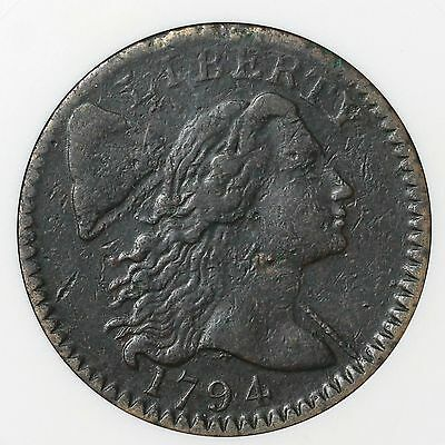 1794 S-59 ANACS VF 30 Details Liberty Cap Large Cent Coin 1c