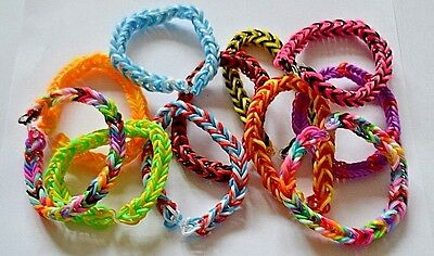 Colourful Elasticated Fishtail  Friendship  Ready Made  Loom Bracelets