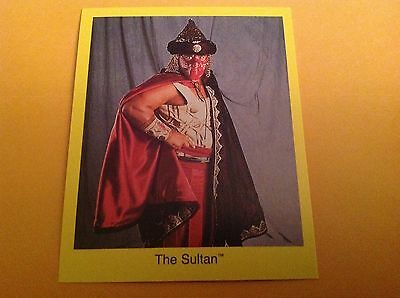 The Sultan Rikishi 1997 Cardinal WWE Wrestling Photo Card NrMt