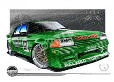 Racing Legends 1984 DICK JOHNSON FORD XE BATHURST  STRETCHED CANVAS (RL06)-New_I