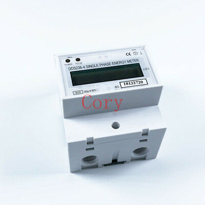 DDS238-4 220V Single Phase DIN-rail Kilowatt Hour kwh Meter 60Hz 20-100A Current