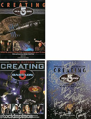 CREATING BABYLON 5 Books :U.S.Version AUTOGRAPHED x 15!! (multi-listing)
