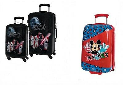 Star Wars /  Micky Maus Reisekoffer Kinderkoffer Trolley ABS Koffer