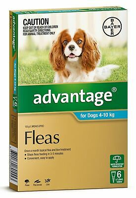Advantage Flea Control for Dogs 4-10kg - 4 or 6 Pack available