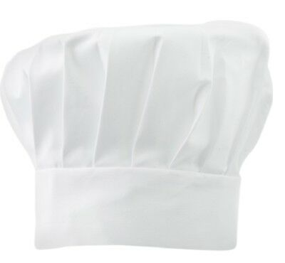 Adjustable Professional Chefs Tall Hats White Polycotton Bakers Cooks Kitchen
