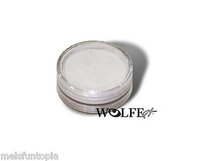 Wolfe Metallix 45g Pot Metallic White Professional Face and Body Paint Make up