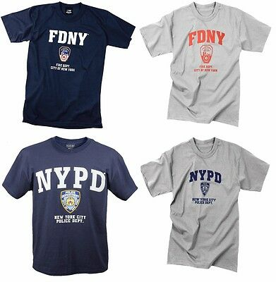 Officially Licensed NYPD FDNY Physical Training Short Sleeve T-Shirt