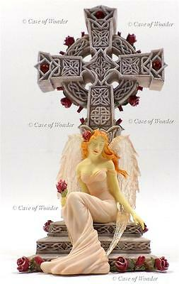 NEMESIS NOW EVERLASTING LOVE TEARFUL GUARDIAN ANGEL CANDLE HOLDER Gothic/Celtic
