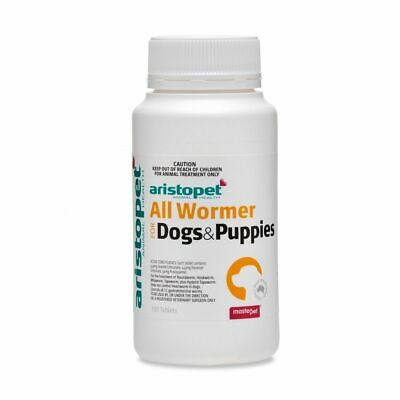 Aristopet All Wormer Tablets for worming Dogs & Puppies x 100 Pack worm dogs