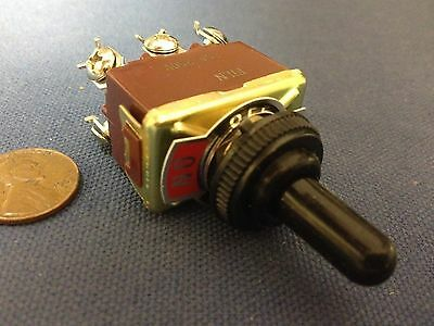 1 Piece RED Waterproof boot cap DPDT momentary Toggle switch ON/OFF/ON car boat