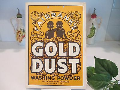 Vintage Fairbank's Gold Dust Washing Powder Black Americana Poster