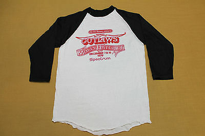 S * NOS thin vtg 70s 1979 MOLLY HATCHET & OUTLAWS spectrum PHILADELPHIA t shirt