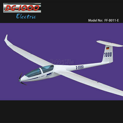 DG-1000 Electric Glider 2630mm KIT with only Motor & Prop dropship RC sailplane