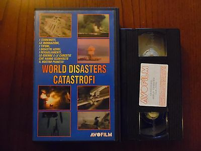 World disasters - Catastrofi - VHS ed. Avofilm rarissima